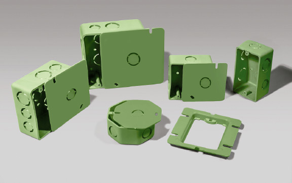 cajas eléctricas de plástico nylon nyalcero caja redonda y cuadrada