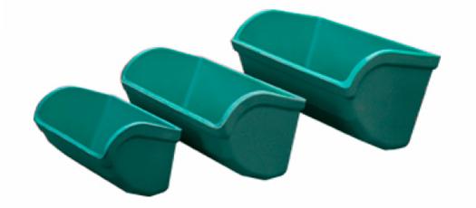 cangilones tipsa polietileno verde