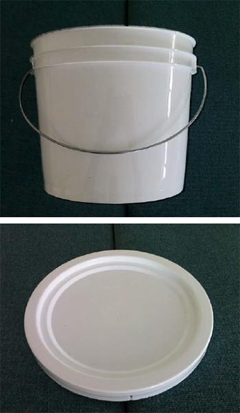 cubeta plástico polipropileno 4L grado alimenticio