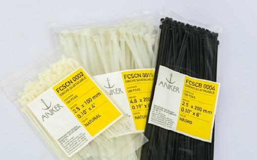 cinchos sujeta cable de plástico nylon nylacero