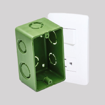 cajas eléctricas de plástico nylon nyalcero caja rectangular verde