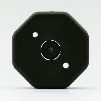 caja eléctrica hexagonal de plástico nylon nyalcero negra